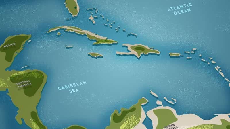 Багамские острова на карте мира