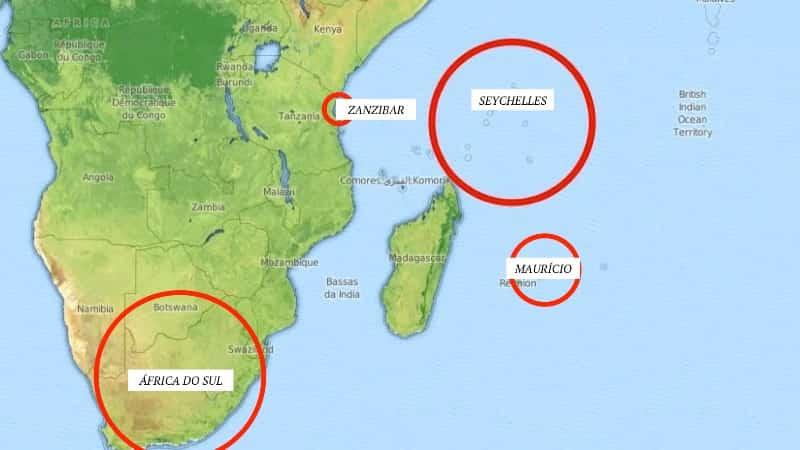Сельшейские острова на карте