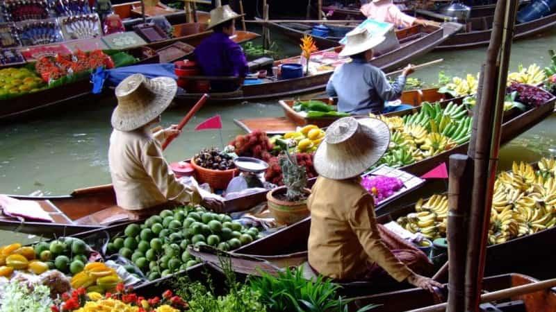 Таиланд плавучий рынок