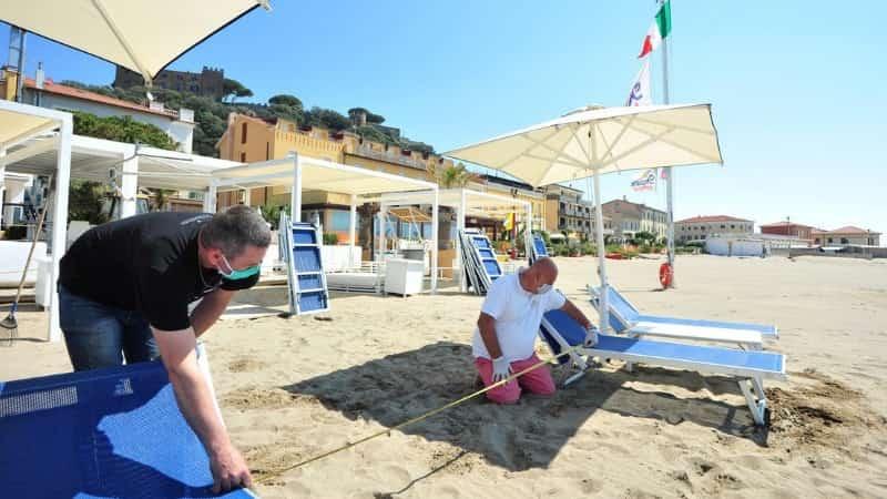 Новые правила на пляжах Италии 2020