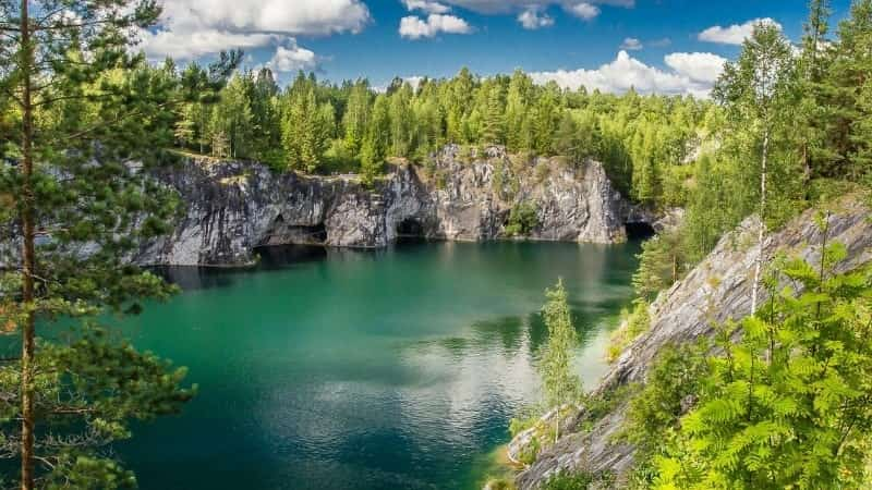 Горный парк Рускеала Карелия
