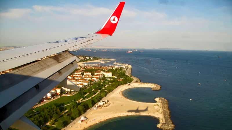 Аэропорт Анталия фото из самолёта