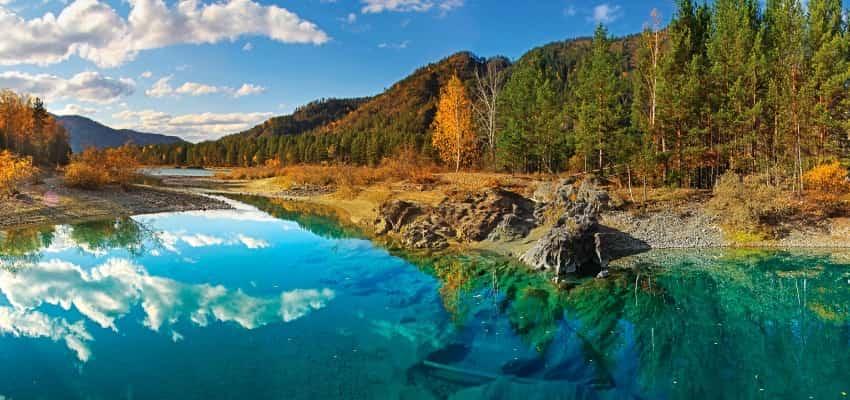 Голубые озера горный Алтай