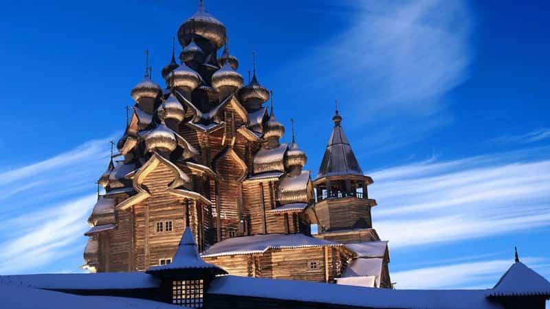 Кижи музей-заповедник зимой