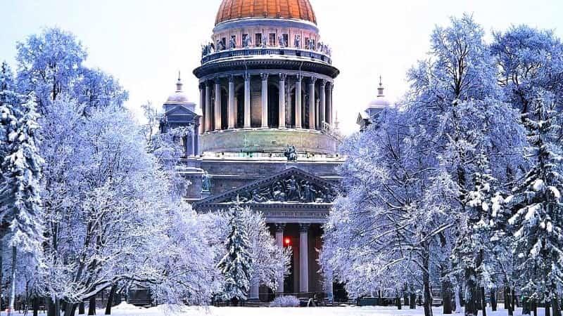 Новогодний Питер Исакиевский собор