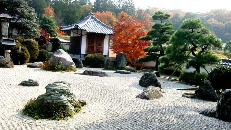 Сад камней в Японии