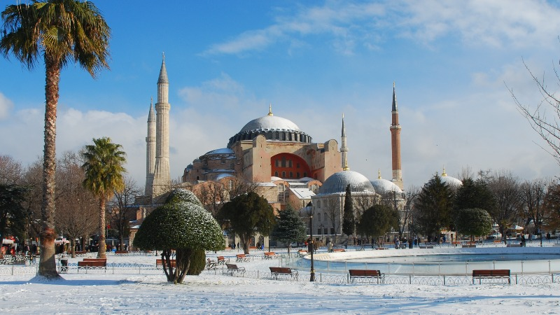 Султанахмет Стамбул зима