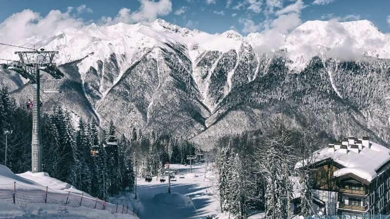 Красная Поляна Сочи зима