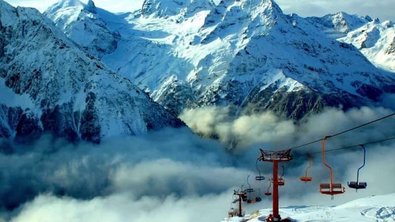 Домбай горнолыжный курорт горы