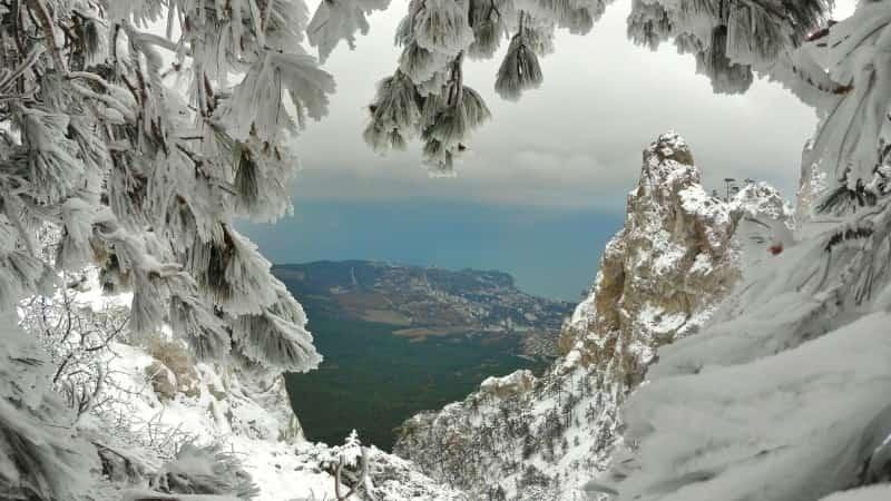 Ялта ай Петри зимой Крым