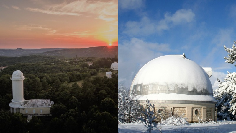 Обсерватория в Ялте на новый год