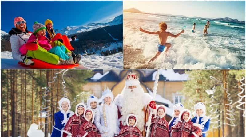 Зимний отдых с детьми фото