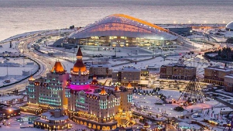 Зимний Сочи парк