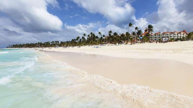 Пляжи Доминиканы зимой